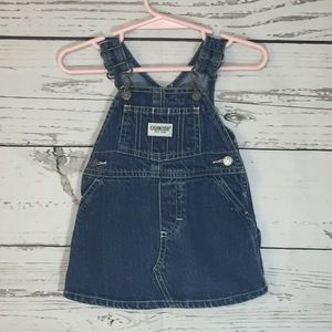 OshKosh denim overall jumper dress Baby 3-6 M